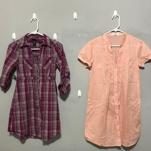 LOT OF 2 EUC SHIRT DRESS H&M Forever21 XS / S 0-2